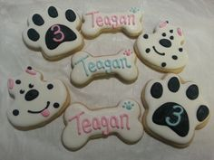 Puppy Dog Themed Sugar Cookies by SugarsCookieNook on Etsy, $35.00