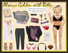 Betty White paper doll