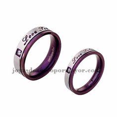 anillo morado especial en acero inoxidable para amantes -SSRGG971720