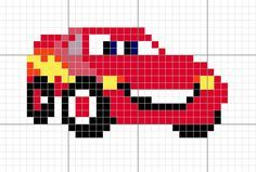 La caverna del mamut: Esquema – Rayo McQueen (cars) The mammoth cavern: Scheme – Lightning McQueen (cars) Kids Knitting Patterns, Loom Patterns, Beading Patterns, Baby Knitting, Embroidery Patterns, Easy Cross Stitch Patterns, Simple Cross Stitch, Cross Stitch Baby, Pixel Crochet