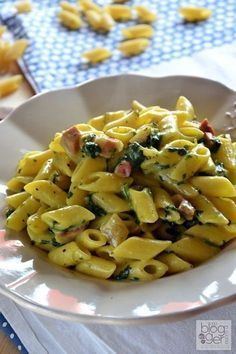 Mezze penne risottate Flonal (10)primi veloci Italian Pasta, Italian Dishes, Italian Recipes, Penne, Rigatoni, Pasta Recipes, Cooking Recipes, Healthy Recipes, Original Recipe