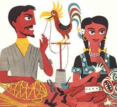 The Fabulous Firework Family  James Flora ~ Harcourt, Brace & World, INC., 1955