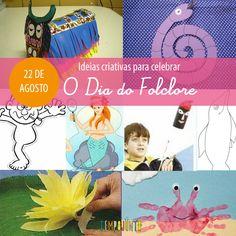 Hoje é o dia 22 de Agosto, o dia do Folclore! A cultura brasileira é muito rica e nos oferece mil e uma possibilidades de aproveitá-la de forma criativa. E é por isso mesmo que nesse post especial de fim de semana, não posso deixar de apresentar ideias de de como explorar essa diversidadecom as crianças, para que elas se divirtam e também aprendam sobre nossa cultura! Contar as lendas, ensinar cantigas e mostrar os símbolos do folclore brasileiro são maneiras de aproximar os pequenos desse…