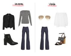 Como aproveitar o look de inverno no verão #summer #winter #outfit #look #ootd #polyvore #painel #ritaheroina #flare #jeans
