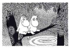 Tove Jansson - Snork Maiden and Moomintroll postcard via Kiosk Mamymuminka (Moomin PL) Moomin Mugs, Moomin Valley, Tove Jansson, Little My, World Best Photos, Troll, Illustrators, Fairy Tales, Illustration Art