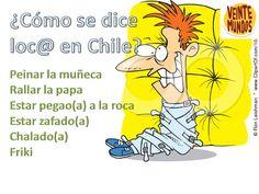 ¿Estás loco?. Las mil formas de decir loco-a en Chile.  Aprender es fácil con VeinteMundos