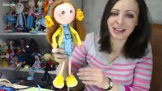 Изготовление куклы-Амурчика и цветов из глины