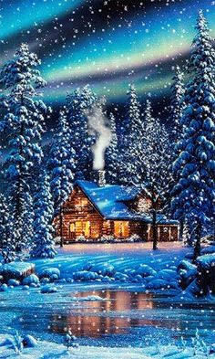 41 Super ideas for wallpaper paisagem natal Merry Christmas, Christmas Scenes, Winter Christmas, Vintage Christmas, Xmas, Winter Snow, Vintage Winter, Christmas Time, Live Picture