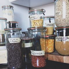 When everything is in pretty jars it makes you want to cook (almost) erveryday!