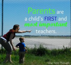 Parents are Teachers too!  What can you do to instil a LOVE of LEARNING in your child?  {One Time Through}