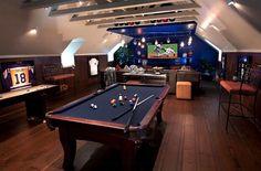 de vetste game rooms | mancave game room awesome pooltable | Wonen voor Mannen