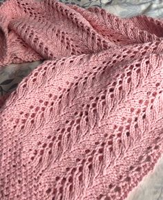 Free Knitting Pattern for 4 Row Repeat Little Dove Baby Blanket - Little Dove is knit using a simple 9 stitch 4 row pattern repeat that is framed by rows of seed stitch. Worsted weight yarn. Designed by Anat Rodan. Pictured project by MaggieLoux