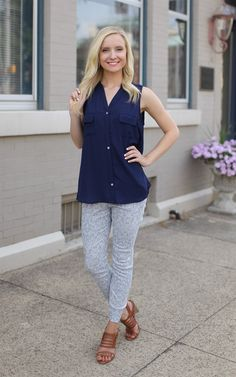 The Light Blue Textured Pants - Textured pants anyone? These stretchy pants are adorable!  Dress and Dwell - Good things for you and your home
