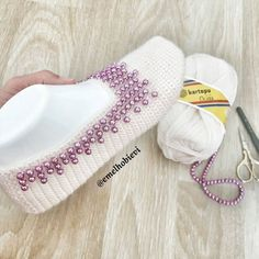 Best 12 Greetings ü I've shared a side view of a beaded bag – SkillOfKing. Crochet Slipper Pattern, Crochet Square Patterns, Crochet Shoes, Pull Crochet, Crochet Ripple, Knit Crochet, Pinterest Crochet, Diamond Shoes, Beach Wedding Shoes