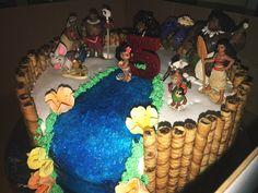 MOANA BIRTHDAY CAKE #disney #moana Trolls Birthday Party, Moana Birthday Party, Hawaiian Birthday, Moana Party, Birthday Cake Girls, Luau Party, Birthday Fun, Birthday Parties, Birthday Ideas