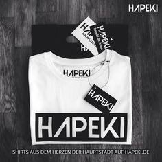 Versandfertig! Das HAPEKI LOGO SHIRT - erhältlich auf www.hapeki.de! #hapeki #berlin #modeausderhauptstadt #madeinberlin #casual #hapekistyle #fashion #stylish #instagood #fashioninsta #instafashion