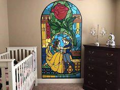 Ideas Baby Room Disney Theme The Beast Disney Themed Bedrooms, Disney Themed Nursery, Disney Rooms, Baby Room Themes, Baby Girl Nursery Themes, Nursery Ideas, Princess Nursery Theme, Beauty And The Beast Bedroom, Disney Wall Murals
