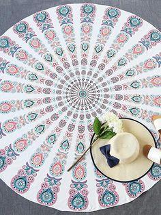 Multicolor Tribal Print Vintage Beach Blanket