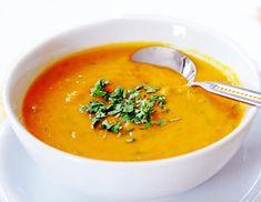 60 sopas low carb - Mais Saúde - learn a new skill - eBooks or Documents Carrot Coconut Soup, Carrot Soup, Sopa Detox, Detox Soup, Squash Apple Soup, Easy Cooking, Cooking Time, Sopas Low Carb, Lasagne