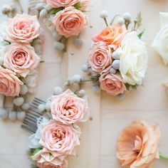 Make your own fresh (or silk) flower comb with a few easy steps!