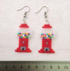 Gumball Machine Perler Bead Earrings van KungFuse op Etsy