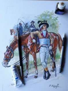 French Army, Napoleonic Wars, Gouache, Les Oeuvres, Sketching, Revolution, Empire, Horses, Drawings