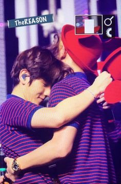 Baek really looks like he's enjoying this simple hug. He goes around playing and touching the other members without care. But when it comes to Chanyeol he's always so shy and cautious, and has the sweetest smile on his face. They're best friends right? Skinship is normal, so why are they so hesitant and get so nervous about it. Gosh they're so cute.