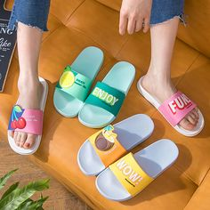 Summer Slides Cute Fruits Women Slippers Cartoon Lemon Cherry Beach Sandals New in Clothing, Shoes & Accessories, Women's Shoes, Sandals Cute Slippers, Summer Slippers, Winter Slippers, Summer Slide, Cute Fruit, Comfortable Sandals, Womens Slippers, Cute Shoes, Fashion Shoes