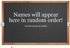 Random Name Selector--kids loved it last year!