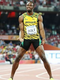 Usain Bolt wins gold at World Championships Usain Bolt, Jamaica Culture, Shelly Ann, Jamaican People, Man Anatomy, Athletic Events, Anthony Joshua, Fastest Man, Muscle Building Workouts