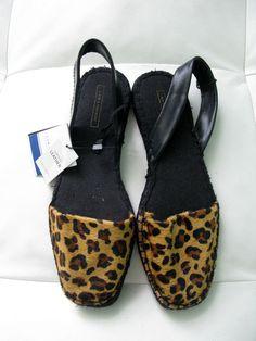 8e12412d047 New Zara Women s  Printed  Leather Espadrilles + BONUS  Zara  Espadrilles