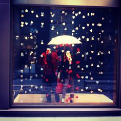 Love, Life and Labels: Marketing Monday - Romantic Banana Republic window display.