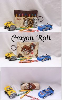 This Crayon Roll will make a great accessory for your purse, diaper bag or backpack just roll the Crayon Holder up and drop in your bag and you are on your way.   This is an awesome way to keep the little ones busy when you take those long road trips, waiting at the doctor's Office, Restaurants, etc. . . This crayon organizer features eight individual pockets that holds each crayon.   The Crayon Wallet holds 7 Crayons (INCLUDED).