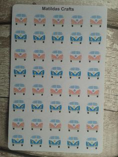 A sheet of cute campervan stickers These are ideal for any size planner Also ideal for stationary decor etc Stickers will be packaged in a waterproof sleeve and a board back envelope