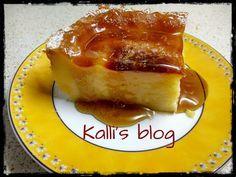 Γαλατόπιτα Μεσσηνιακή( χωρίς φύλλο) - Kalli's blog Lollipop Bouquet, Greek Desserts, Greek Recipes, Easy Sweets, Appetisers, French Toast, Bread, Cooking, Breakfast