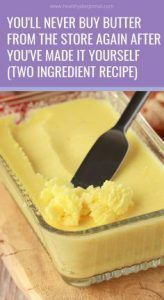 Never Buy Butter From The Store Again After Made It Yourself (Two Ingredient Recipe) You will do yourself a big favor if you replace the processed butter with your won, homemade butter, rich in vitamin A and beneficial for your teet Keto Recipes, Cooking Recipes, Healthy Recipes, Bread Recipes, Cake Recipes, Cooking Fish, Sandwich Recipes, Healthy Baking, Healthy Drinks