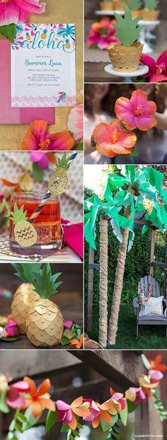 Luau Party Ideas - Lia Griffith