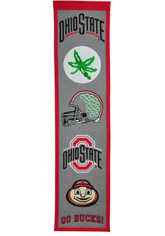 Everyone will know you love the Buckeyes when you hang this Ohio State Buckeyes Fan Favorite Banner in your home. Rally House has a great selection of new and exclusive Ohio State Buckeyes t-shirts, hats, gifts and apparel, in-store and online. Football Banner, Nebraska Football, Ohio State Football, Ohio State University, Iowa State, Ohio State Buckeyes, Basketball Goals, Buy Basketball, Basketball Shooting