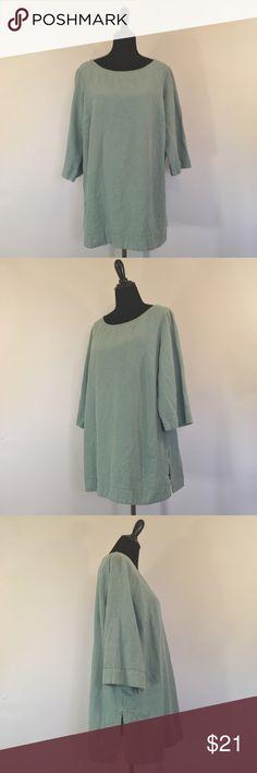 Soft Surroundings Women's Tunic Blouse Size 1X Women's Soft Surroundings 100% Cotton Tunic Blouse Size 1X Soft Surroundings Tops Blouses