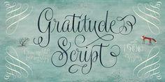 Gratitude Script. on Behance
