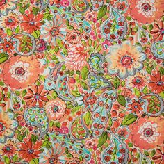Orange color Contemporary and Floral pattern Linen and Prints type Upholstery Fabric called Picasso by KOVI Fabrics Colour Pallette, Colour Schemes, Floral Upholstery Fabric, Greenhouse Fabrics, Dena, Fabric Patterns, Fun Patterns, Geometric Patterns, Home Decor Fabric