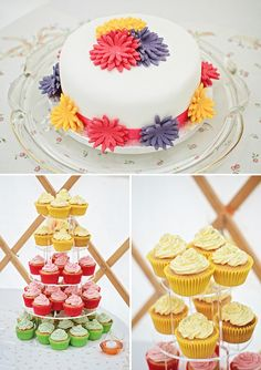 rainbow wedding cake, image by Gemma Williams Photography