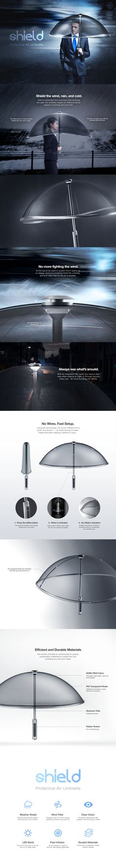 "查看此 @Behance 项目:""Shield Air Umbrella""https://www.behance.net/gallery/56384333/Shield-Air-Umbrella"