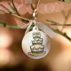 Glory Hauus Wedding Cake Christmas Ornament | underthecarolinamoon.com #WeddingCake #WeddingOrnament #GH #GloryHaus #ChristmasOrnament #UTCM #UnderTheCarolinaMoon