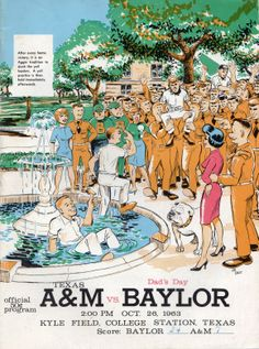 1963 Game Program between Texas A&M vs. Baylor at Kyle Field in College Station on 10/26/63
