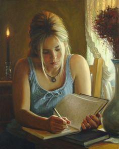 La lectrice peinte par l'artiste québécois Emmanuel Garant