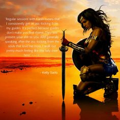 Regular sessions with Karen means that I consistently get an ass-kicking from my guides. Its perfect because guides don't make you feel shame. Good Ol, Thankful, Wonder Woman, Superhero, Feelings, Fictional Characters, Fantasy Characters, Wonder Women