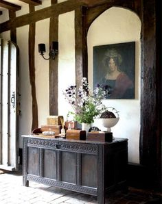 Tudor Style Homes Interior, Tudor House Interior, Country House, House… Tudor House, Cottage Tudor, Ivy House, Rustic Cottage, Cottage Style, English Cottage Interiors, English Interior, Antique Interior, House Interiors