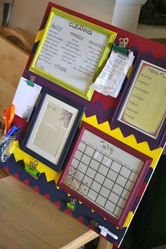 organization board tutorial.   cleaning schedule, menu plan, to-do list, and more to help keep you organized!#Repin By:Pinterest++ for iPad#