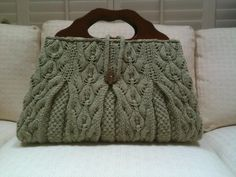 Gorgeous hand knit satchel